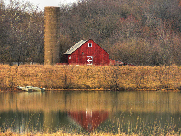 Barn Reflection - Springfiled, IL